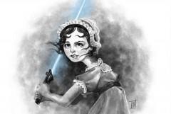 Jedi Jane doodle by Kelly Light at www.Kellylight.com