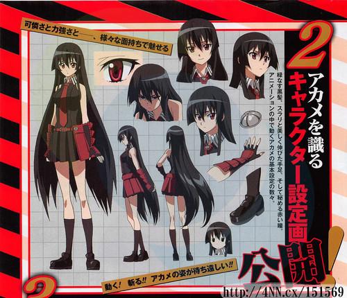 Akame Ga Kill Character Concept Art