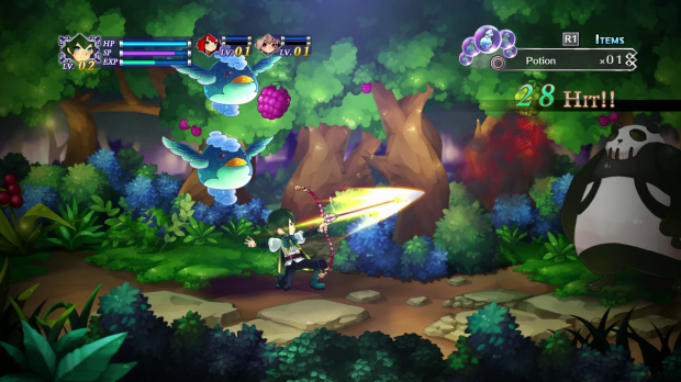 Side-scrolling action