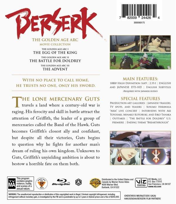 Berserk Blu-ray Back Cover