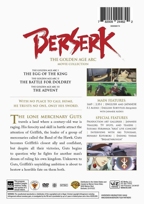 Berserk DVD Back Cover